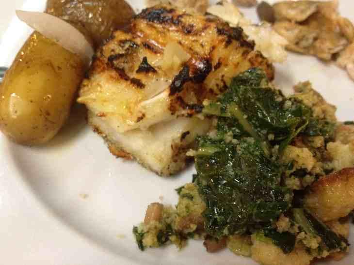Essa foto é minha - meu prato não estava bonito, mas estava delicioso!