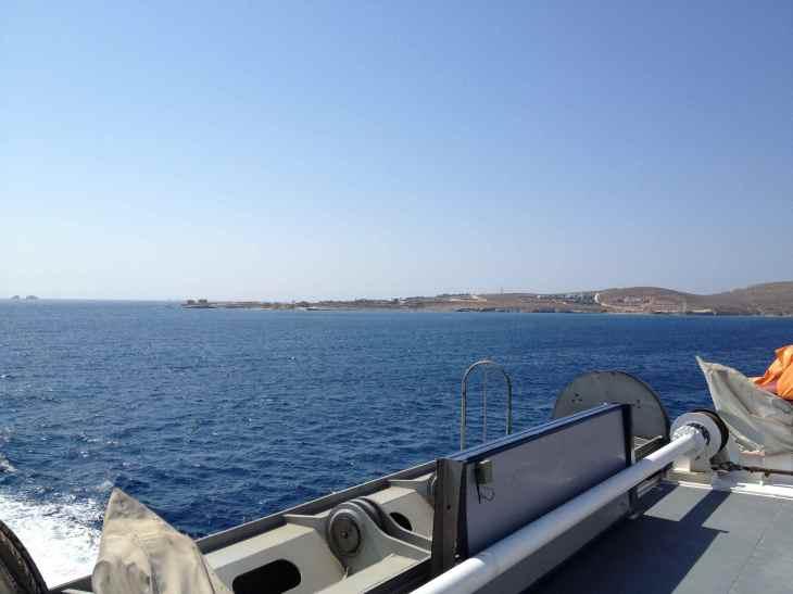 Vista da ilha de Naxos